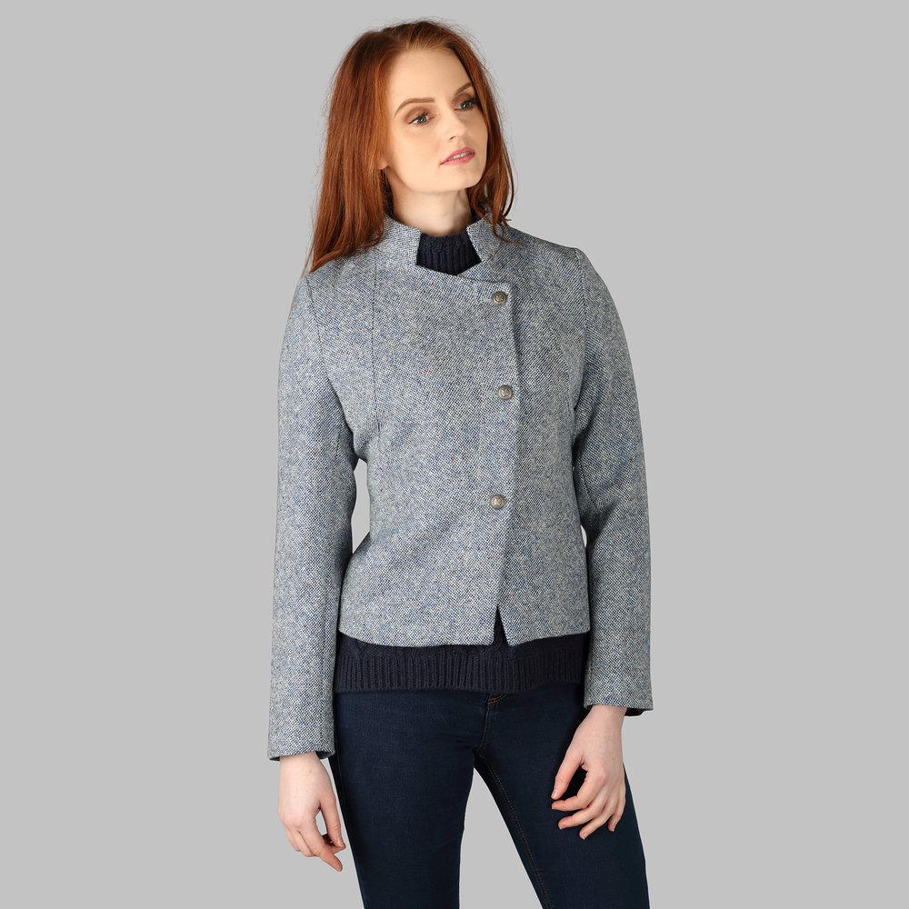 Donegal Tweed Jacket, Blue - SHOP NOW
