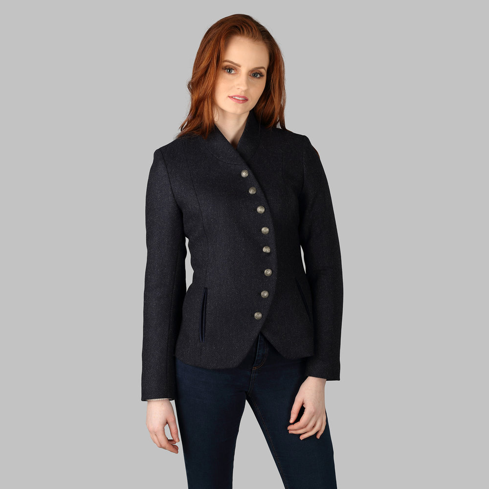 Womens Tweed Jacket, Navy - SHOP NOW