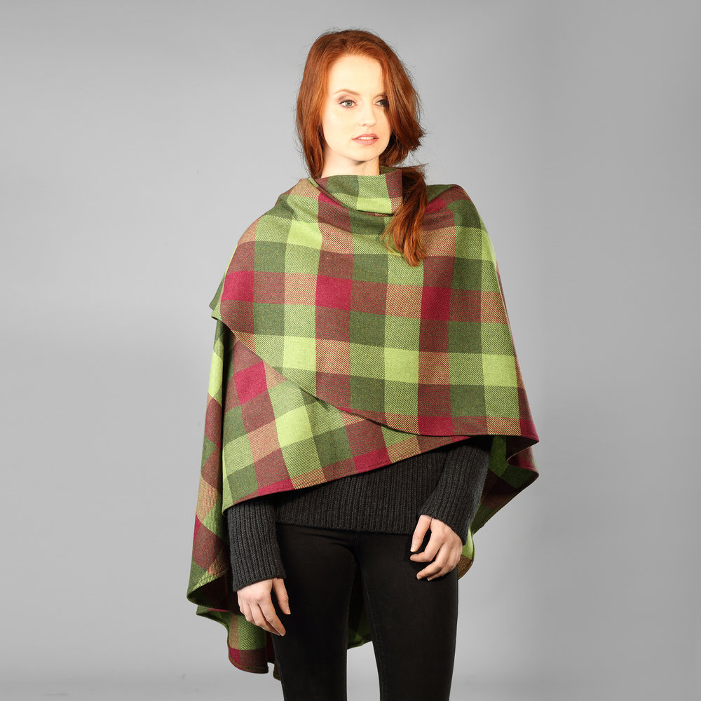 Red Salt & Pepper Womens Tweed Cape - SHOP NOW