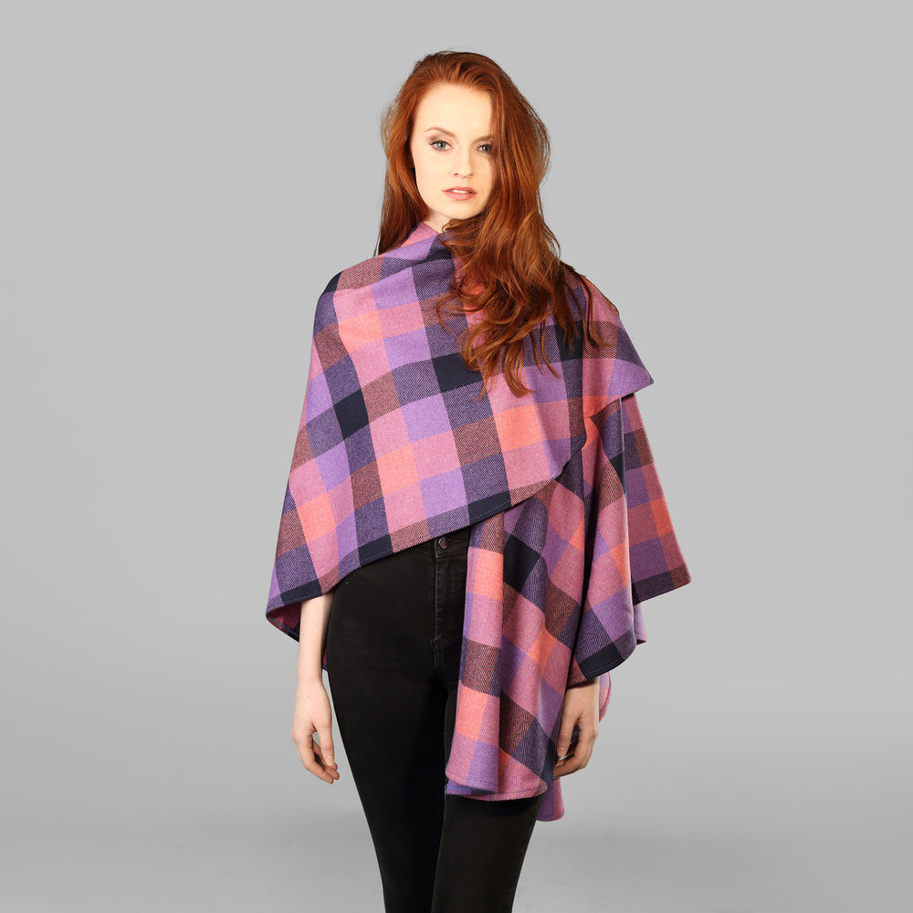 Womens Tweed Throw Cape - SHOP NOW