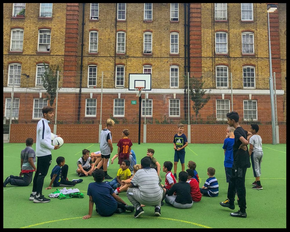TUESDAYS - BOURNE ESTATE PITCH, EC1N 7UP16:00 - 17:00 | 7 - 13 YEAR OLDS
