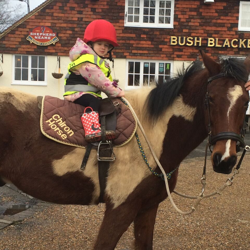 A trip to the pub in a Total Contact Saddle