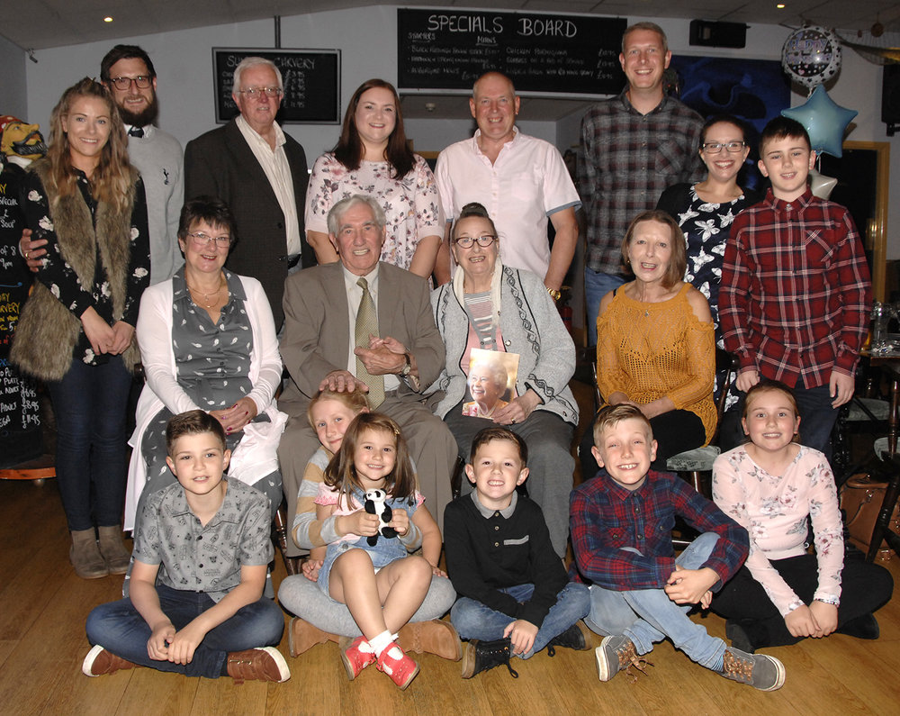 Tom and Peggy Ballinger with their family in Filey