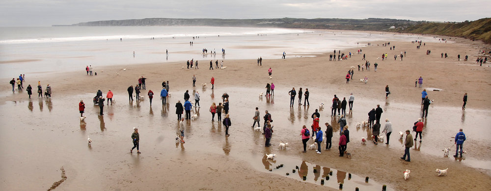 Filey beach was much busier than usual