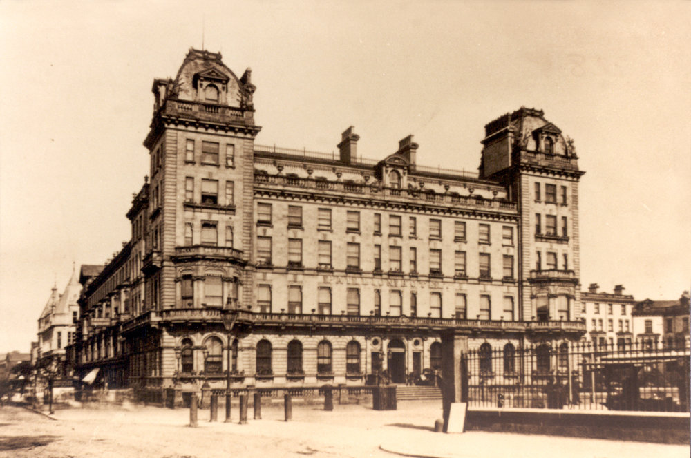 The Pavilion Hotel, with Rowntrees store just visible, on the left