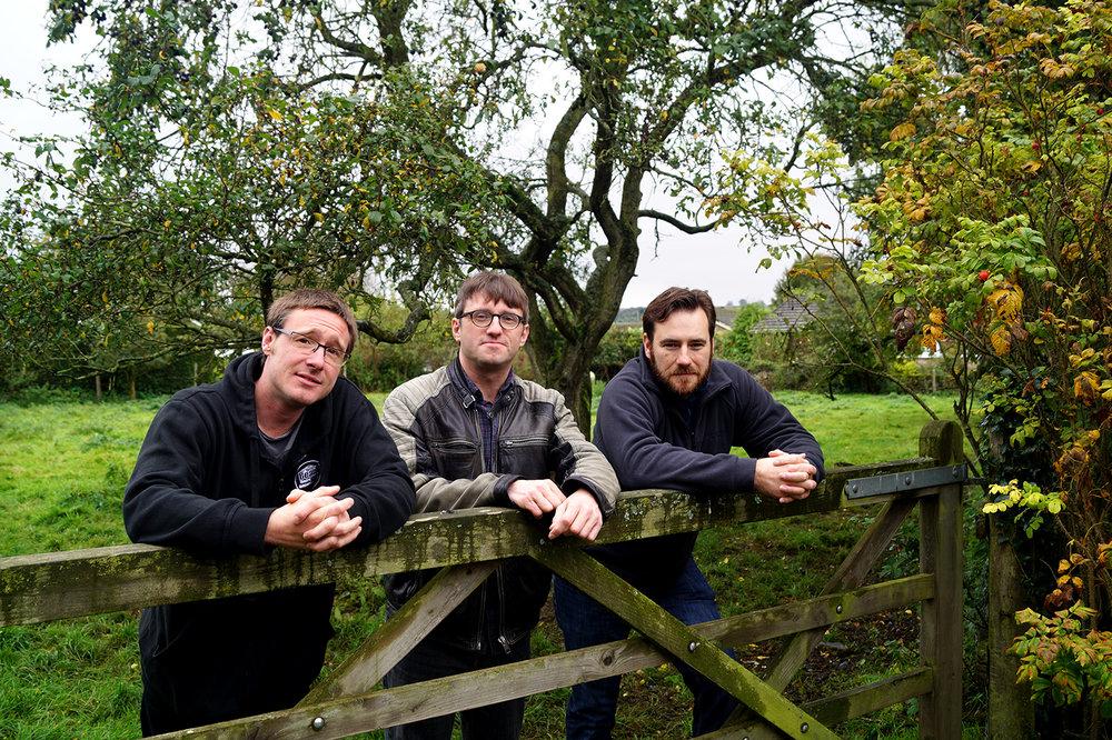 L-R, Stephen Wilkin, Paul Spencer and David Brown