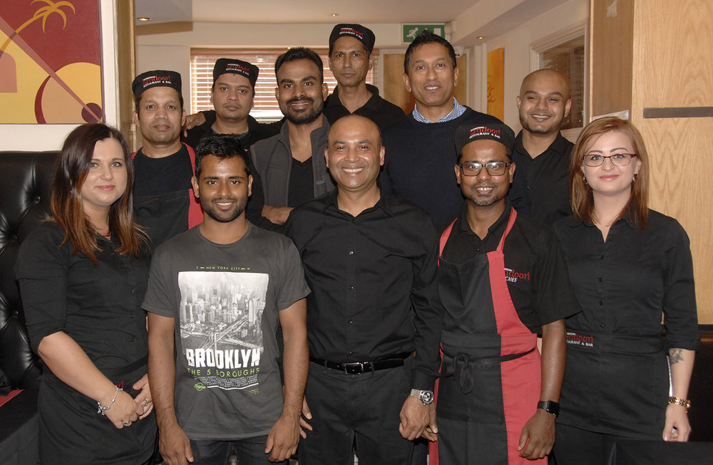 Some of the Scarborough Tandoori staff on duty at the lunch (to order photos ring 353597)