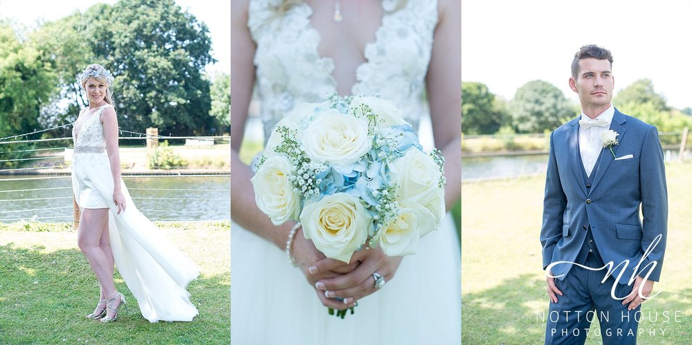 blue and silver wedding theme Notton House Photography shropshire wedding photographer