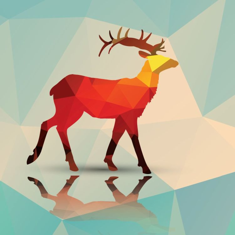 Geometric polygonal deer, pattern design, vector illustration