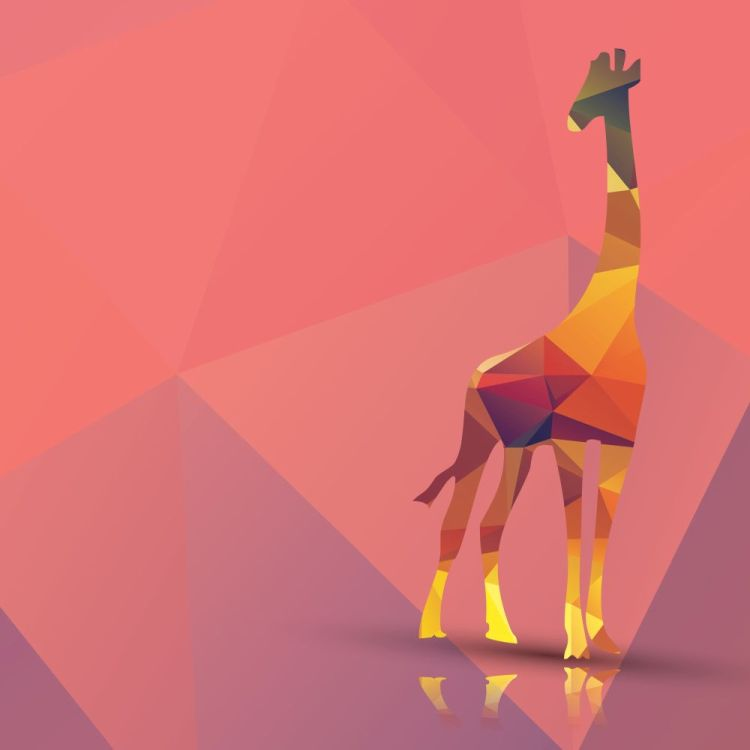 Geometric polygonal giraffe, pattern design, vector illustration