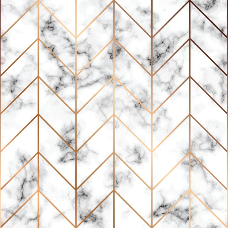 Vector marble texture, seamless pattern design with golden geome