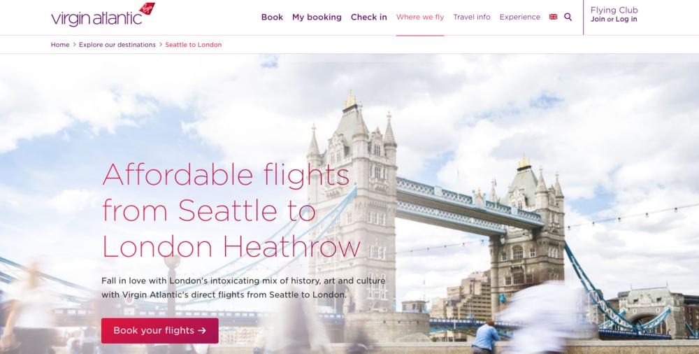 Virgin Atlantic - London Guide