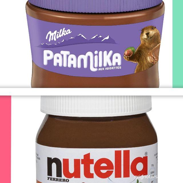 Pate à tartiner Laquelle entre le nutella et Patamilka est moins pire ? Réponse en video Youtube : lien dans la bio #nutella #patamilka #VS #versus #battleDeGouters #grignotersain #mangersain #samedi #brunch #gouterhealthy