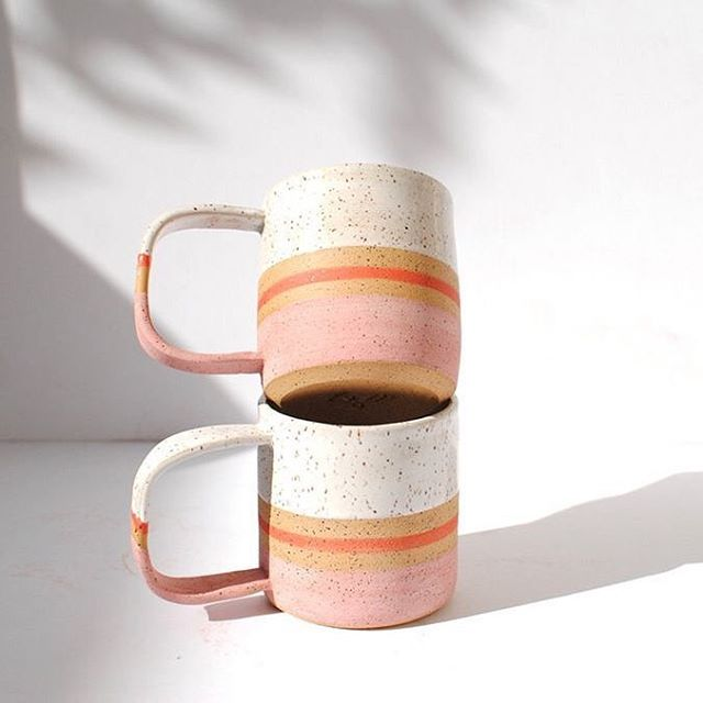 We absolutely love these handmade ceramic blush mugs by @mlpottery  A perfect pair with our loose leaf gift tea.