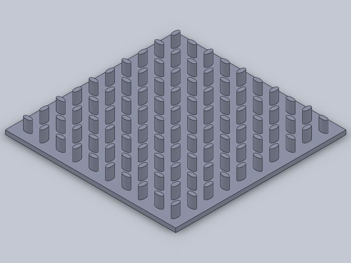 Drawing of a MicroGrip® surface