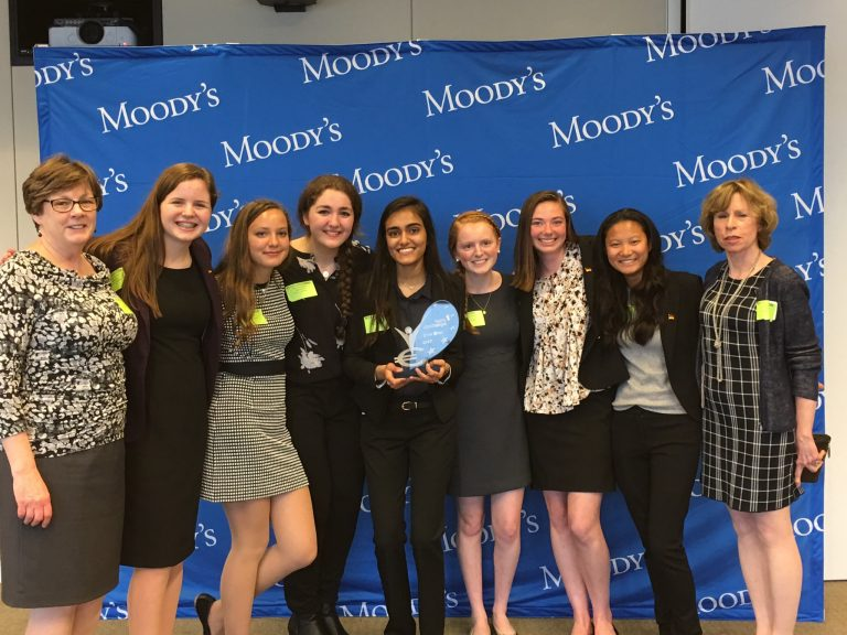 Photo of the winning team: Mount Saint Mary Academy