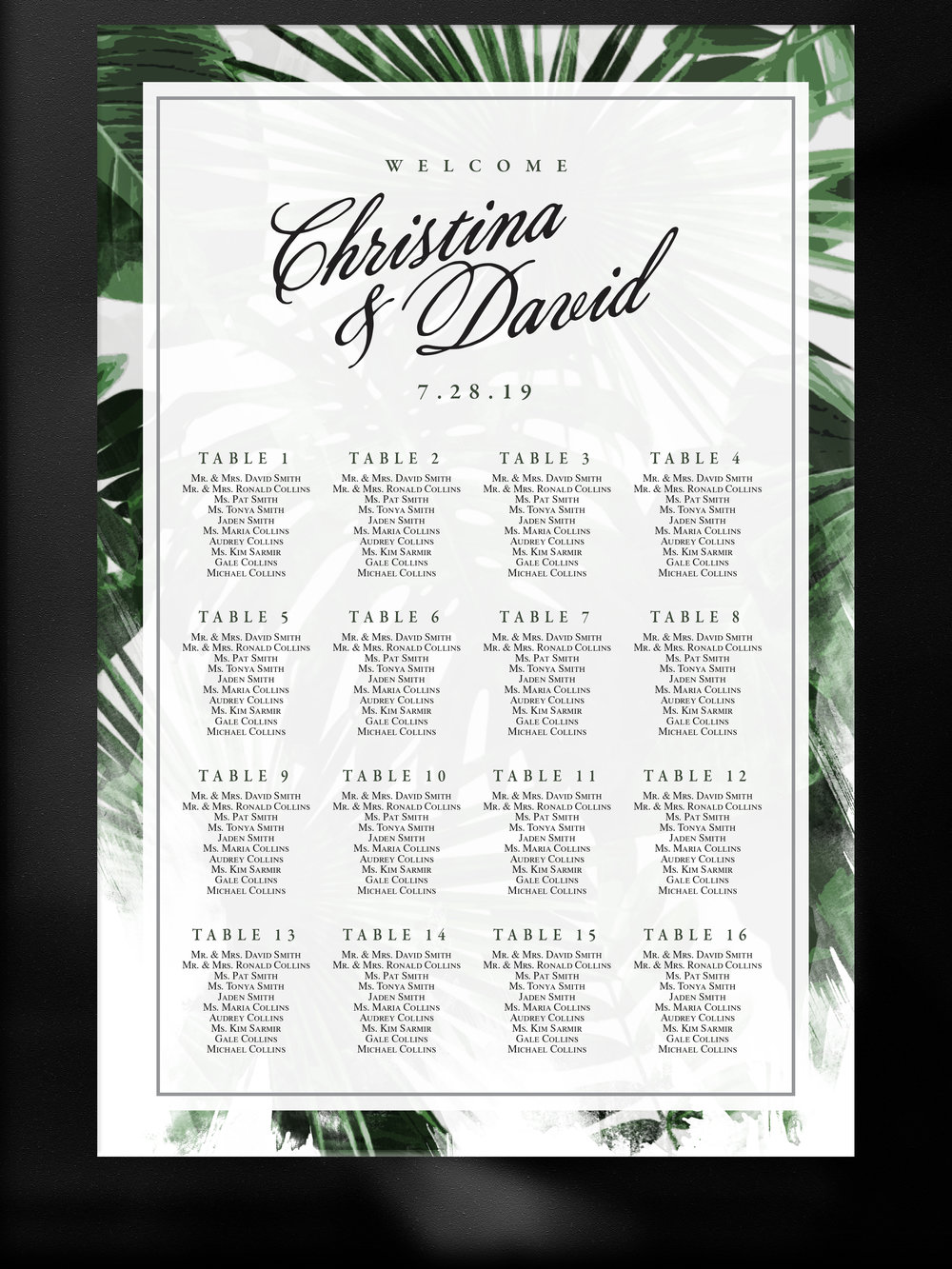 tahitian-nights-wedding-seating chart-tropical-green-pearl.jpg
