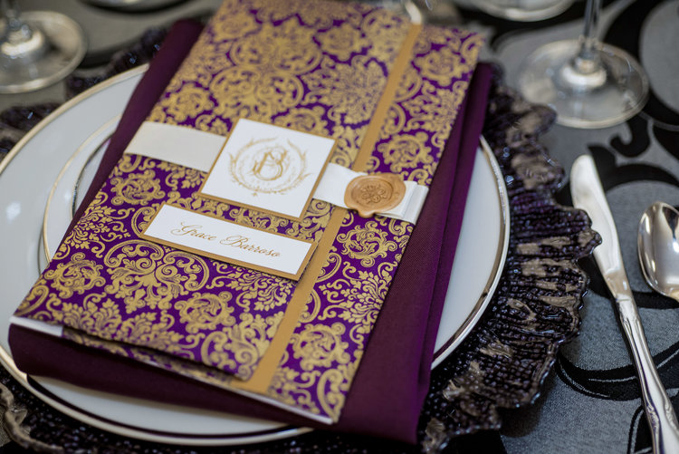 Weddings - Providing custom wedding invitations and suites and day-of-wedding items to compliment your event like place cards, monogrammed aisle runners, seating charts, and more.