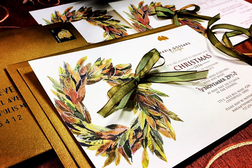 Holiday & Celebrations - We can design and print custom celebration pieces like personalized and boxed holiday cards and more. We can even include ribbons from around the world.
