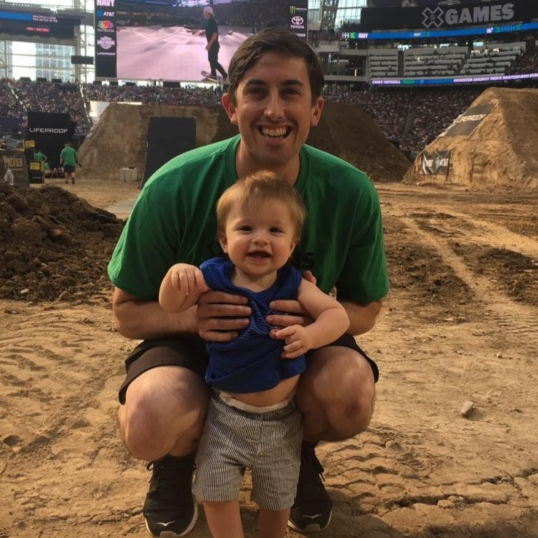 Jameson is the big one. Tanner is the cute one. Both like playing with dirt. The Big One is also currently on loan to ESPN's X Games.
