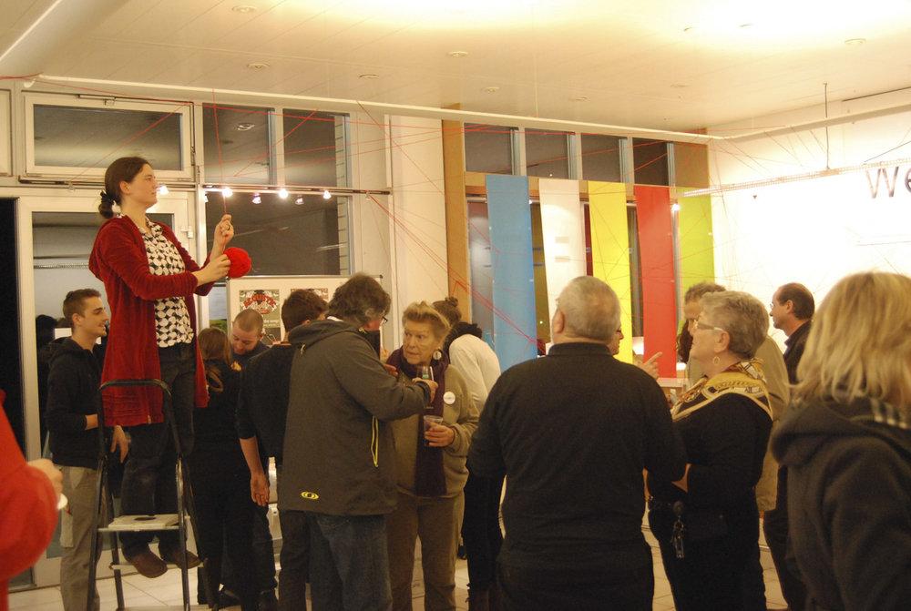 Solothurn, Schweiz, Weststadt, Quartierbüro, Performance  Foto, Martin Rohde