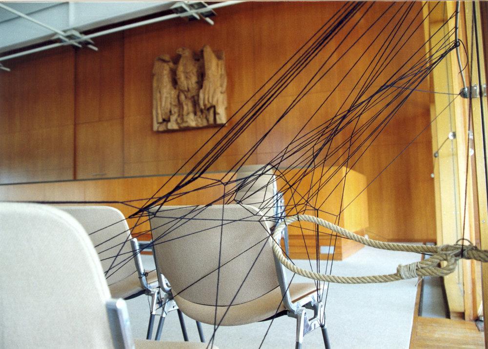 Karlsruhe, des Plenarsaal Bundesverfassungsgerichts, 2001