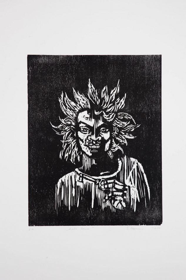 Diabo louro / Blonder Teufel  1996, Neudruck auf Büttenpapier (Auflage von 5) 2011  Foto: Quirin Empl