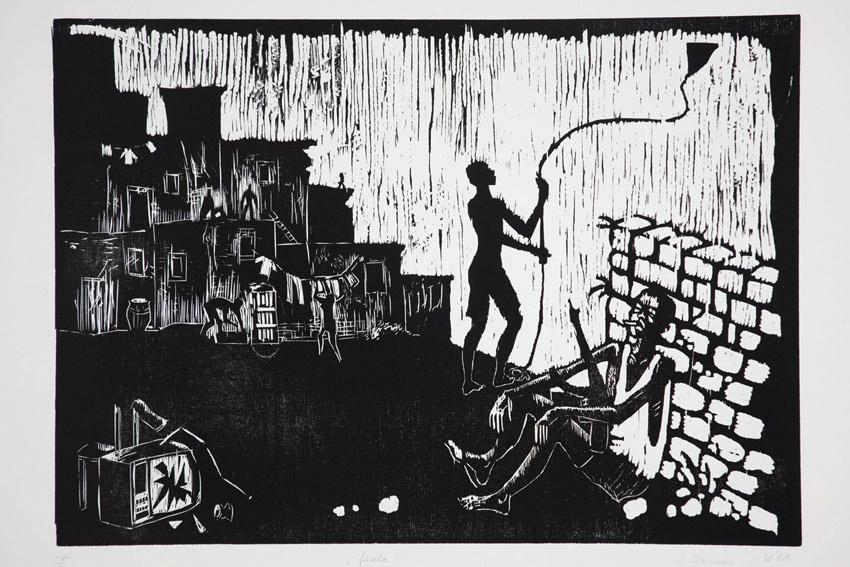 Favela   1996, Neudruck auf Büttenpapier (Auflage von 5) 2011  Foto: Quirin Empl