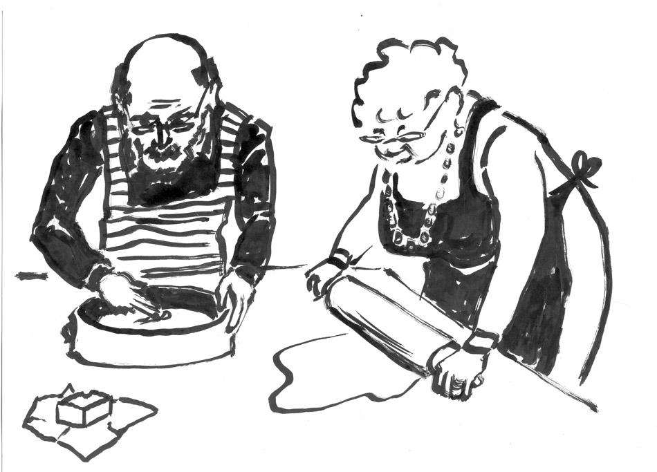 """Illustrationen für die Broschüre """"Leben wie ich bin"""", ein Leitfaden für Menschen mit Demenz in Wohngemeinschaften, Brandenburg 2009"""