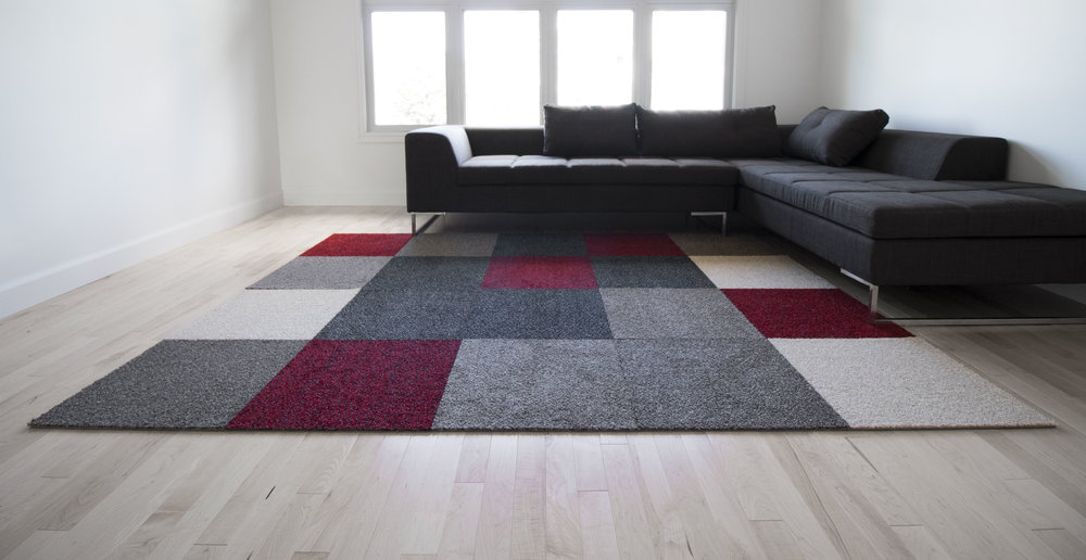 Harmony — Installation en tapis 4 couleurs
