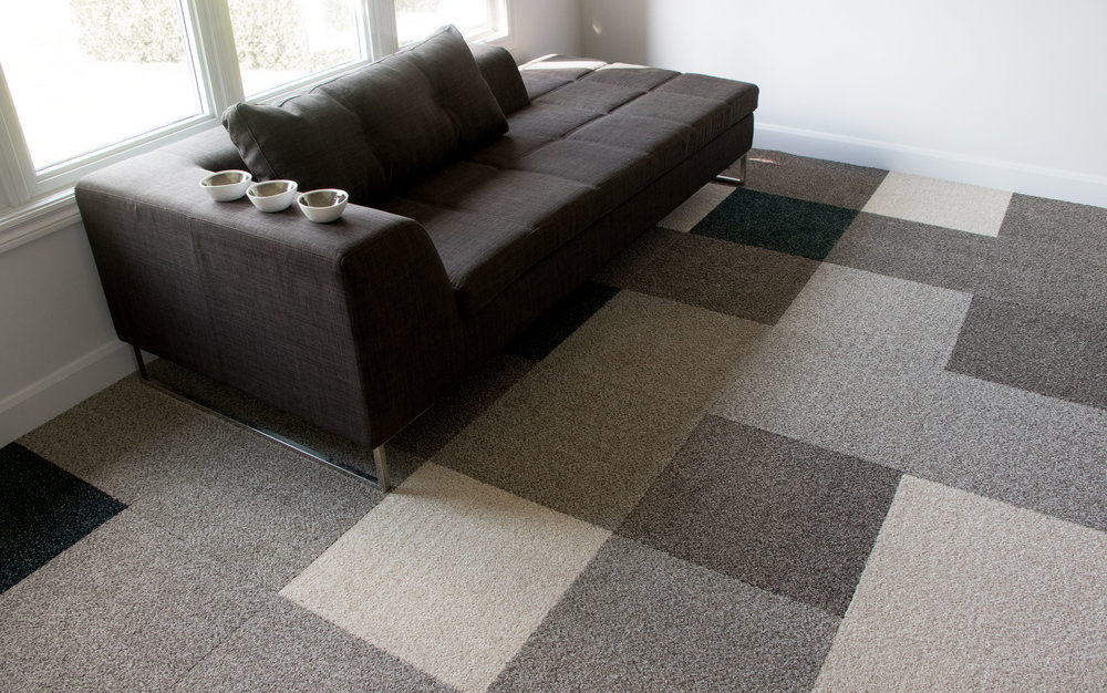 Harmony carpet tile — Full pattern installation
