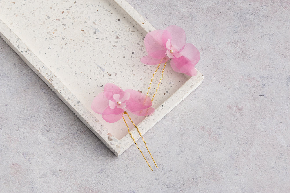 Pink Silk Orchid Hair Clips.jpg