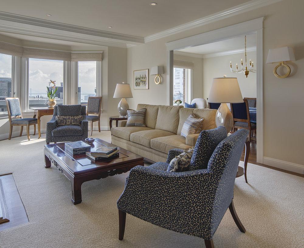 Hyde Street Condo Living Room - San Francisco, California
