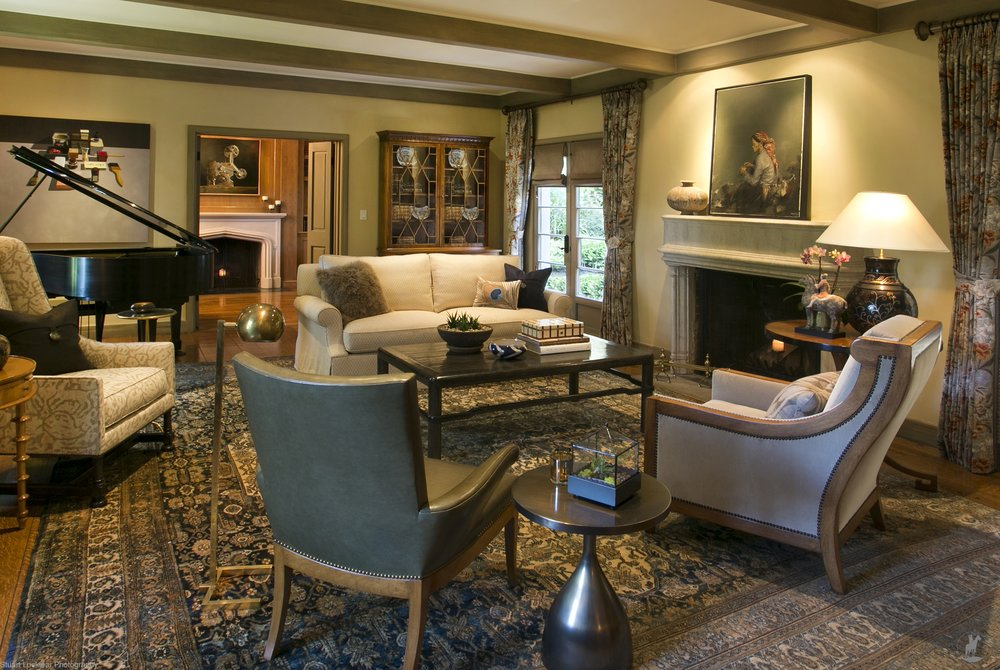 Traditional Living Room - Hillsborough, California