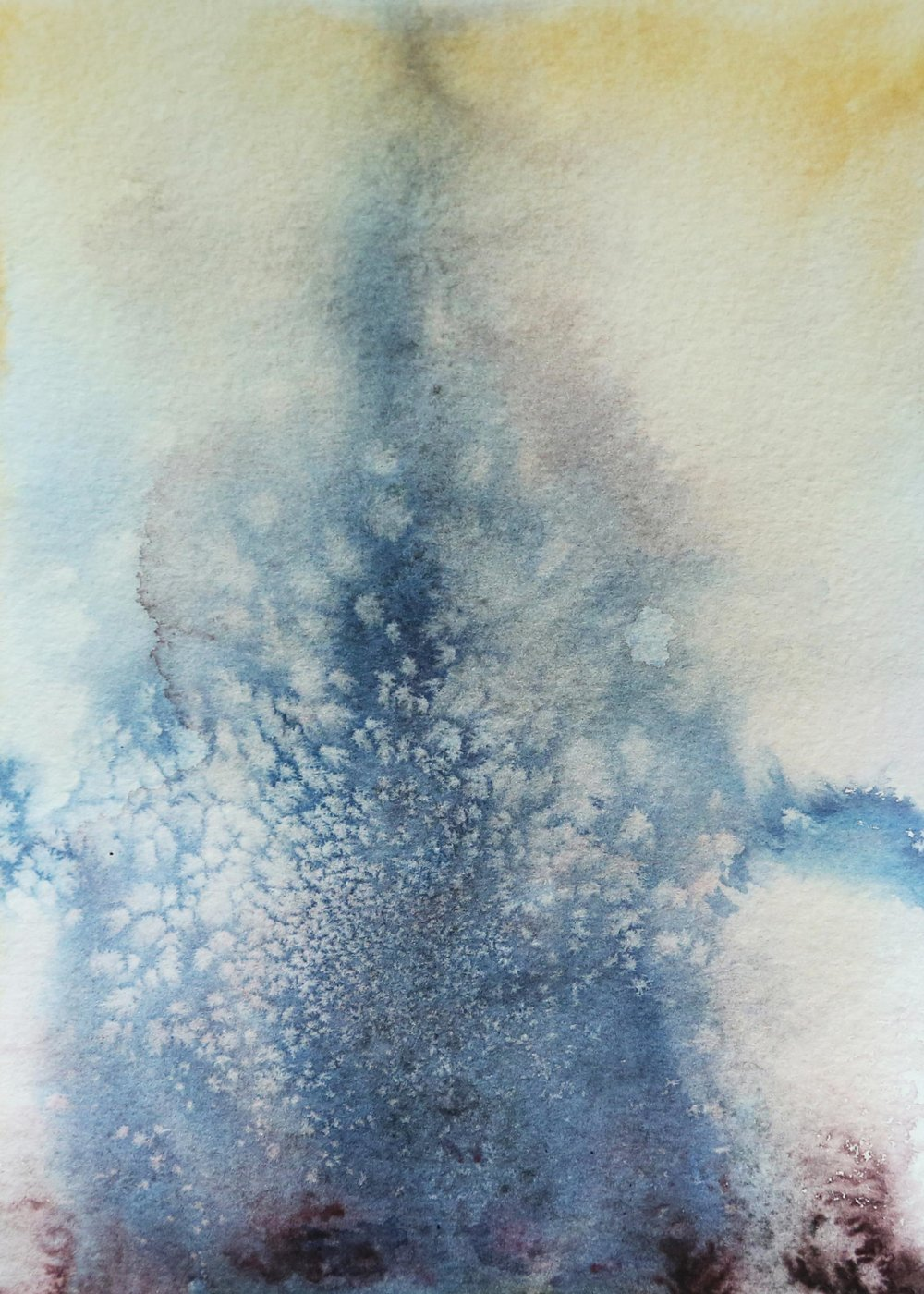 Vast and tender, 2015. Watercolor on Paper, 6x8