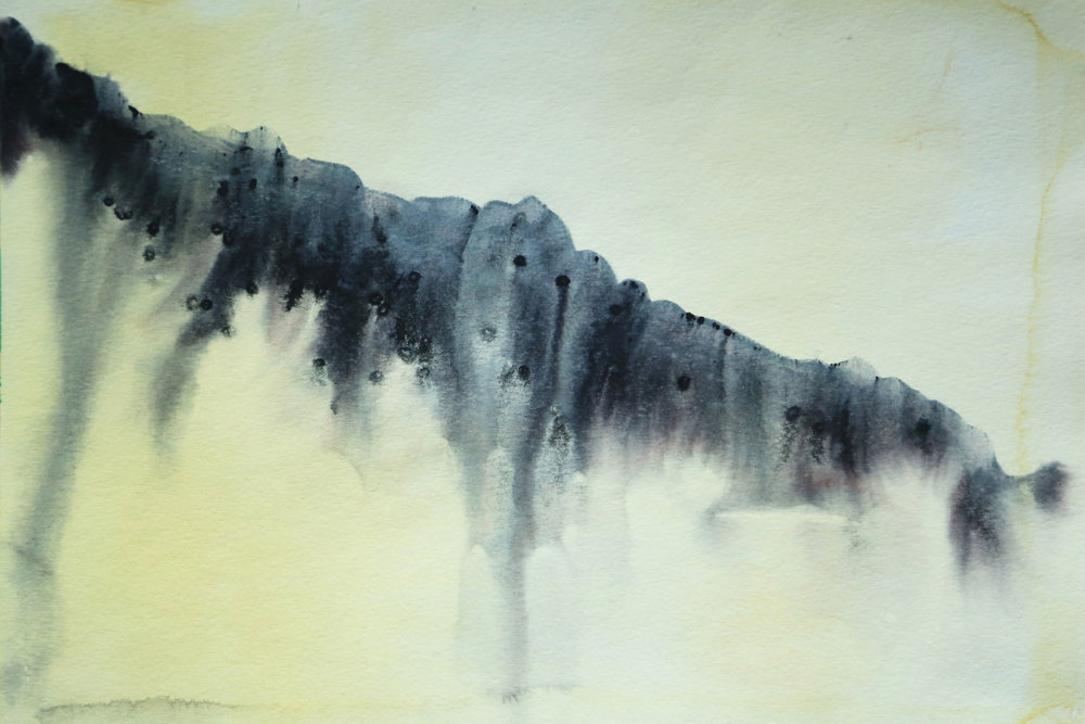 Height of morning, 2015. Watercolor on paper. 16x12