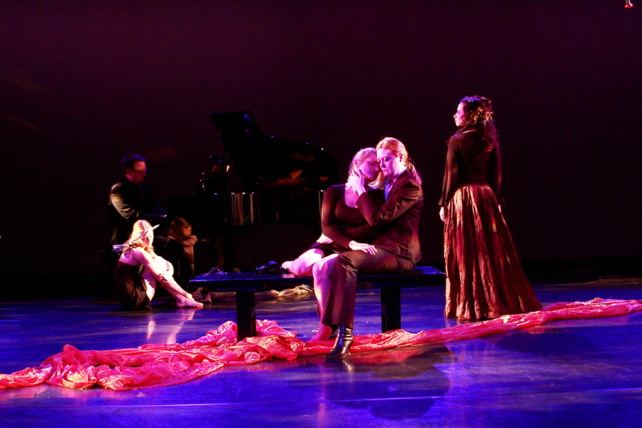 Misha Penton, soprano, concept, director; with singers Michael Walsh, Shelley Auer, Kinga Skretkowicz; Toni Valle, choreographer. Stephen W. Jones, piano.
