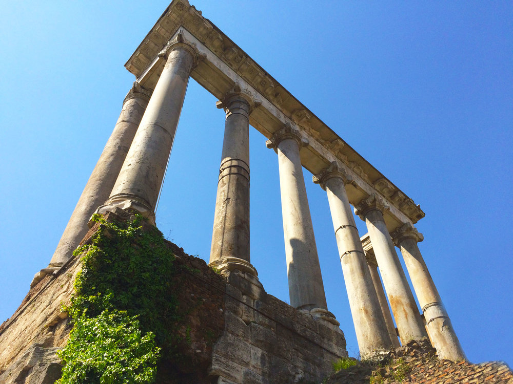 Temple of Saturn. Roman Forum. Photo by Misha Penton