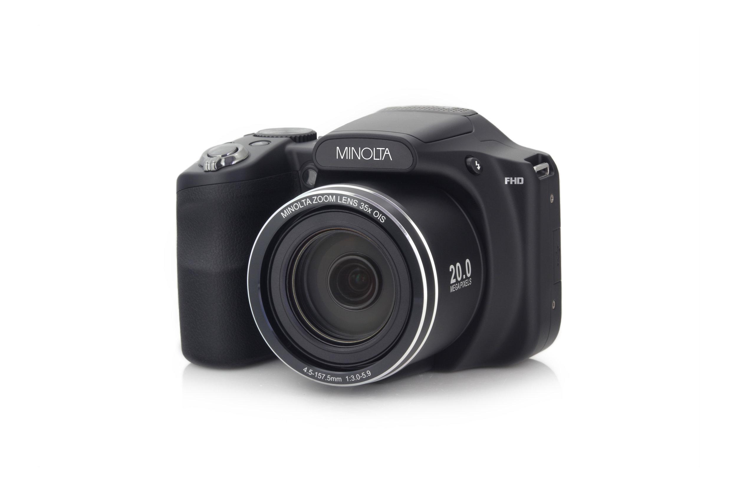 MN35Z 20MP 35X Optical Zoom Wi-Fi Bridge Camera - Black — Minolta Digital