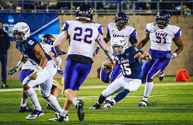 A big congrats to @ucdavisfootball on your win over @northern_iowa football! #GoAgs! (📸: @ucdavisphoto) . . . #football #win #smile #ucdavis #aggies #weekend