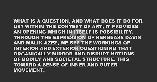 MARK OF THE QUESTION  EXHIBITION OF ART  OPENS MAY 5TH 2-5pm @spaceworksnyc  Artists  MALIK AZEZ HERNEASE DAVIS  #NFAR #nfinitfoundationartistresidency  #nfinitfoundationarts  #brooklynartstore  #thinkprocess  #buyblackart