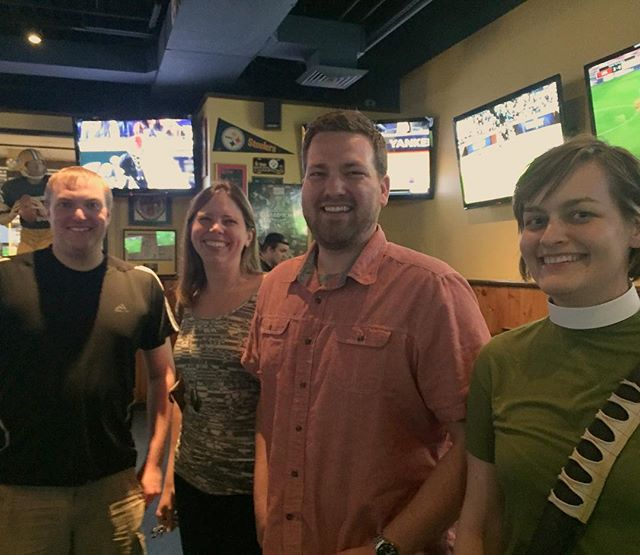Great time at #PubTheology last night!  See you next month, July 13 at 7pm @glorydaysgrill in Burke!