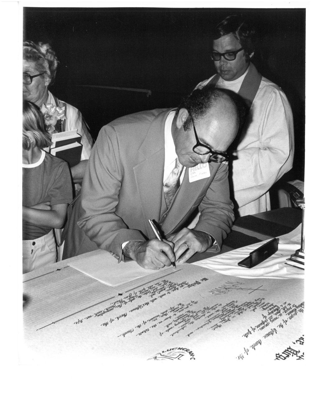 Signing the Charter