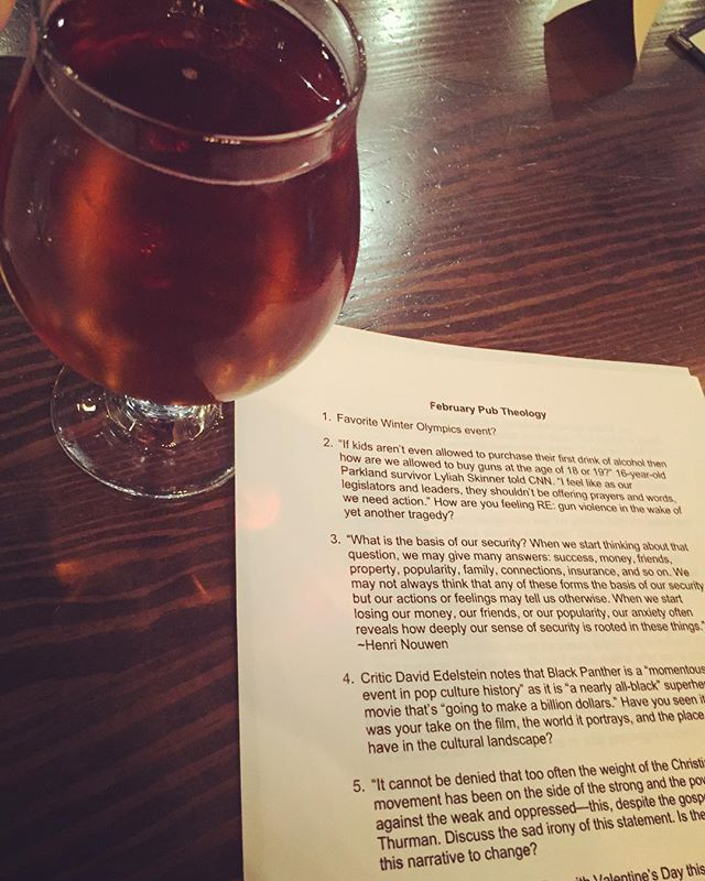 Some great Kentucky Bourbon Barrel Ale to get the conversation started! 👍 #pubtheology #ilovemyjob #faith