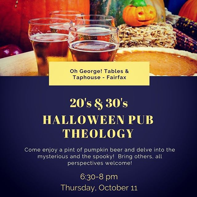 I buy some appetizers and we drink some beer/soda while we talk about all things strange & spooky!  Can't make it by 6:30?  No problem, come when you can, we're there till 8!  @ohgeorgeffx #pubtheology