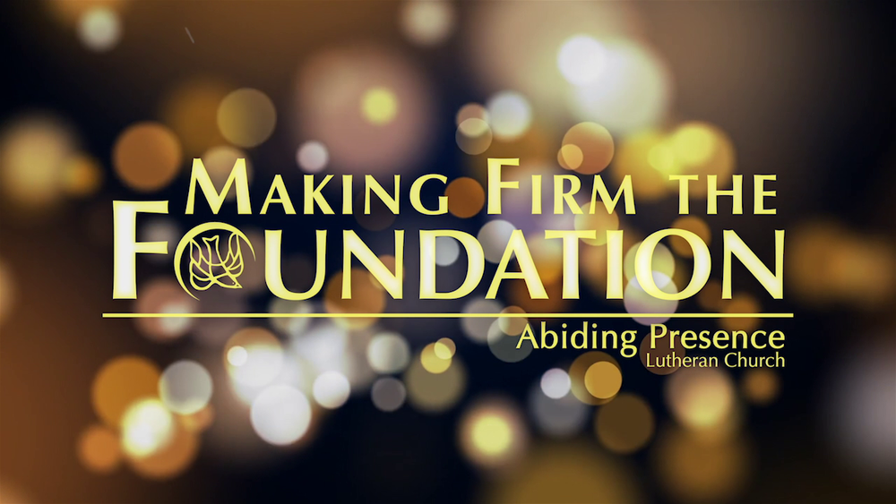 Making Firm the Foundation celebration screengrab.png