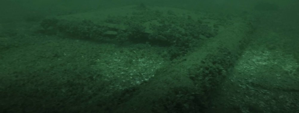 Saturday, August 12 2017 Some screen captures from underwater video of one of the multiple targets we chose to investigate with the camera mounted ROV. While it bears some similarities to the Nike booster rockets used in Avro Arrow test program, our initial assessment of this target is that it is the rudder from a ship.