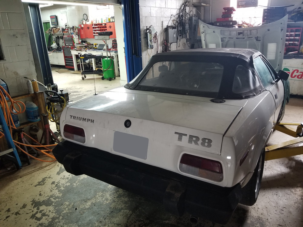 Birkshire Automobiles 1981 Triumph TR8 in for service (2).jpg