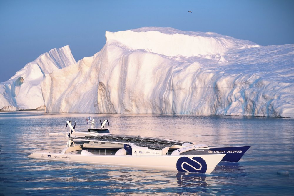 Energy Observer - Innovative hybrid solar/wind self-generating hydrogen-powered vessel currently circumnavigating