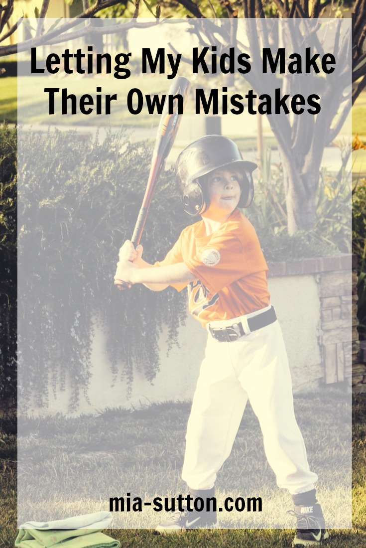 Parenting | motherhood | family | letting kids make mistakes | letting kids learn from mistakes | making mistakes is OK | team spirit | winners never quit | t-ball | mia-sutton.com